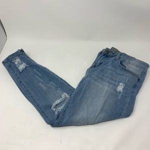 Worn Once! VIP Distressed Ankle Jeans!